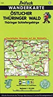 Oestlicher Thueringer Wald / Thueringer Schiefergebirge. Fritsch Wanderkarte: Touristische Hinweise auf der Rueckseite. Mit farbiger Wegemarkierung, Wanderparkplaetzen und Langlaufloipen