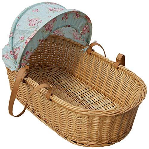 GOUO@ Neugeborenes Baby Moses Korb Ausgehen Entladener Einkaufskorb Leichter Flacher Auto-Schlafkorb Tragbarer Baby-Schlafkorb