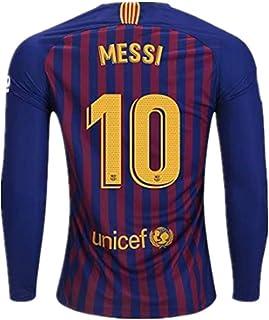 5ecbfa881f0 Ruisiag 18/19 Season Barcelona #10 Messi Home Mens Long Sleeve Soccer Jersey  Color