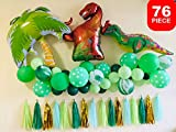 Dinosaur Party Supplies Little Dino Party Decorations Set for Boys Jungle theme Jurassic World Animal Backdrop T Rex Birthday Gift Balloons Arch Garland Kit Blow Up Dinosaurs Balloon