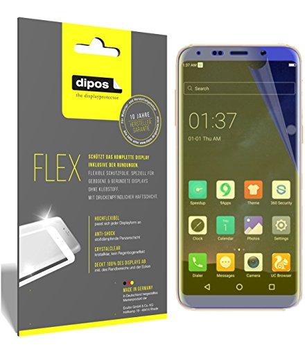 dipos I 3X Schutzfolie 100prozent kompatibel mit BLUBOO S8 Folie (Vollständige Bildschirmabdeckung) Bildschirmschutzfolie