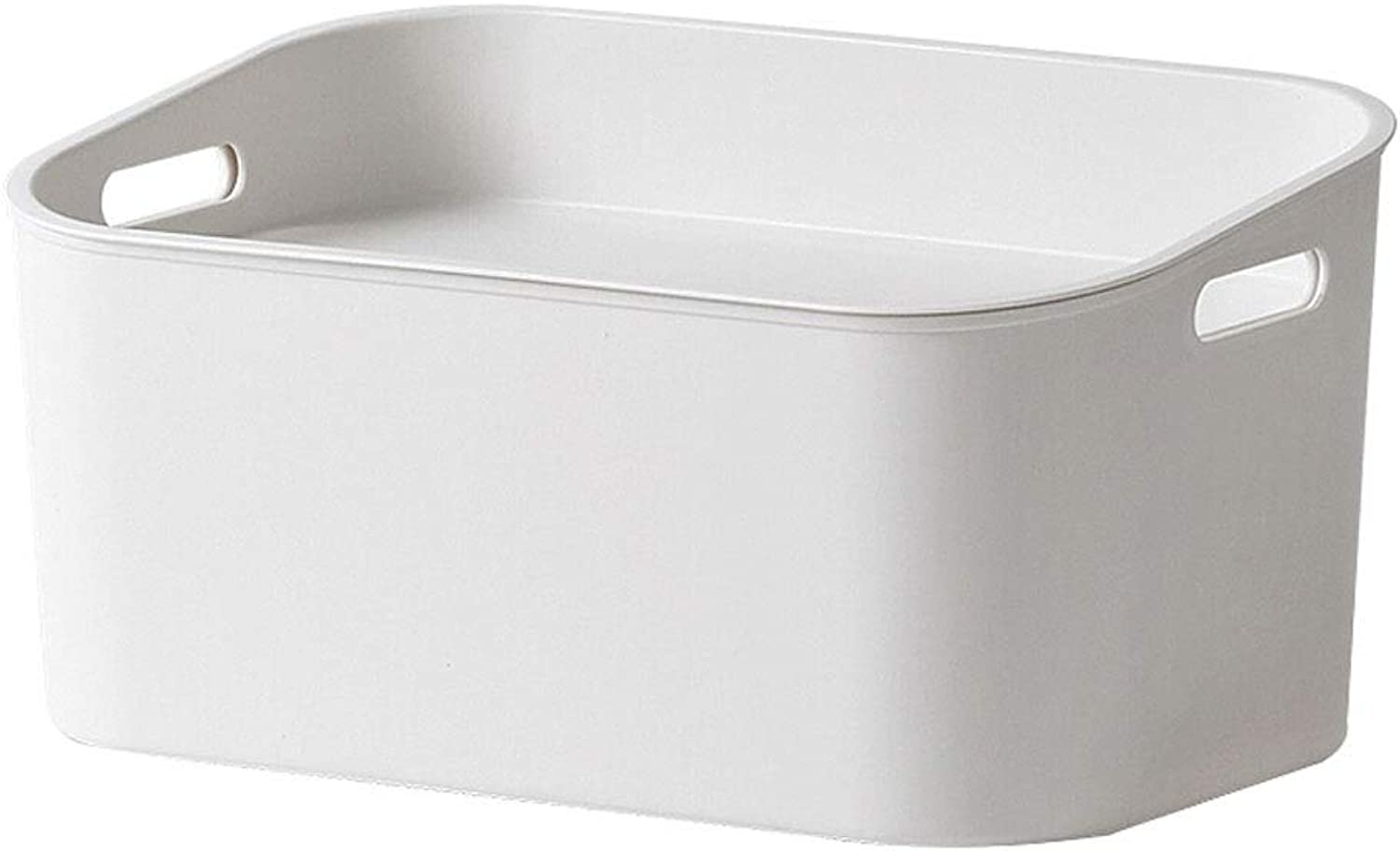 Nordic Style Simple Home Storage Box Plastic Thickening - Handle Design Storage Box Reasonable Use of Storage Space (color   White, Size   M)