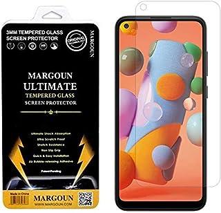 MARGOUN for Samsung Galaxy A11 Screen Protector, Premium Tempered Glass film Easy Installation Frame Case-Friendly