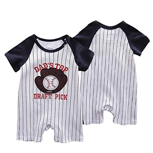 Nicetruc 80cm Baby-Junge-Overall-Kind-Sommer-Spielanzug Baumwolle Body Jumper Overall Für Kleinkind (Baseball Handschuhe Muster)