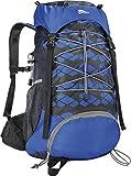 CRIVIT Trekking Rucksack mit Regenschutzhülle, 25 Liter (blau)