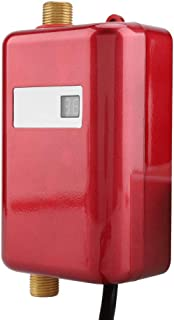 Mini Instant Water Heater Electric Under Sink, 110V 3000W Tankless Hot Water Heater with Leakage Protection and LCD Digital Display for Hand/Face/Dishes Washing Kitchen Bathroom(Red)