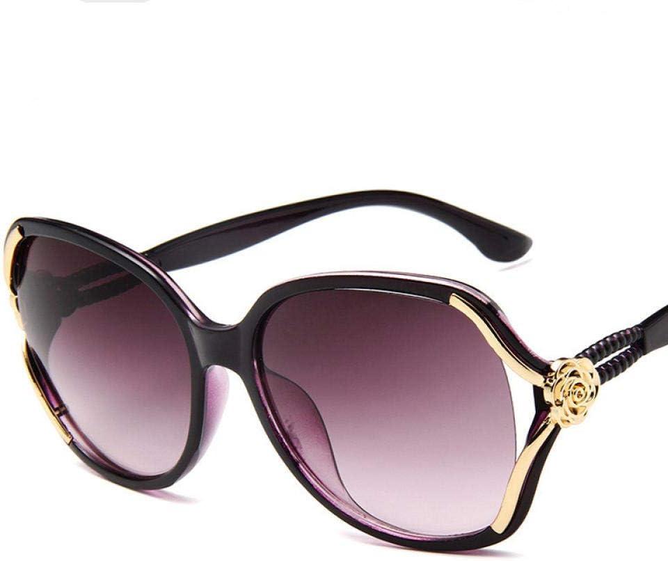 QULIN Nouveau Design de Marque surdimensionné Papillon Lunettes de Soleil UV400 Femmes Grand Cadre Ovale Lunettes de Soleil UV400 Lunettes de Soleil Purple