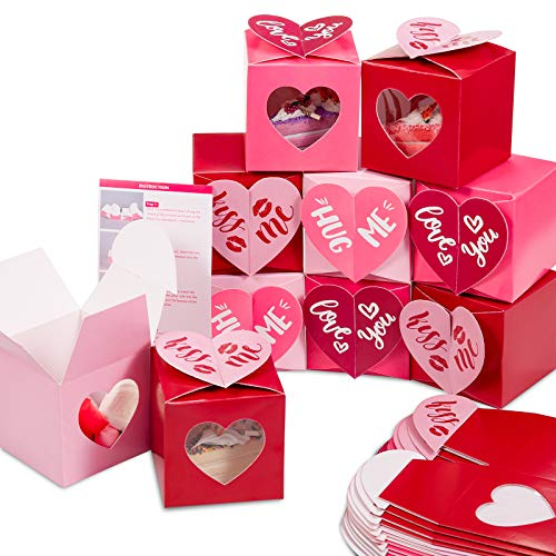24Pcs Valentine's Day Treat Boxes Red