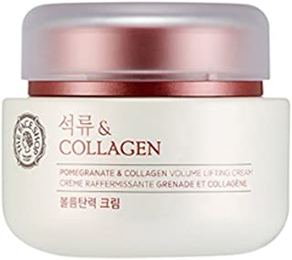 [THEFACESHOP] Pomegranate and Collagen Volume Lifting Cream, Provides an Anti Aging, Moisturizing, and Softening Effect to Skin - 100 ml