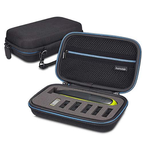 kwmobile custodia Compatibile con Philips OneBlade QP2530/25331/21/2520 - astuccio rigido con scomparto per rasoio lamette pettini caricabatterie accessori - nero