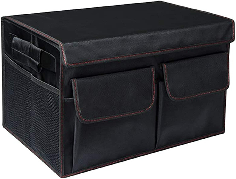 Storage box Storage Box Car Trunk Storage Box Car Storage Box Folding Storage Box Box Car Storage Box Car Supplies Gifts (color   Black, Size   50  30  30cm)