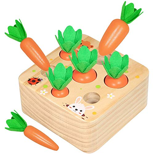 Juguete de Zanahoria de Madera,Juego de Clasificación de
