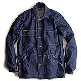 [プリズンブルース] PRISON BLUES デニムヤードコート リジッドブルー 別注レッドフォックスステッチ XL