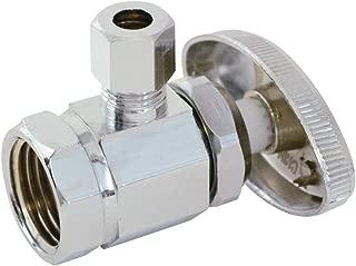Eastman 35232 04129LF multi turn brass angle stop valve, 1/4