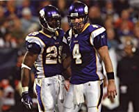 Adrian Peterson-brett Favre Minnesota Vikings 8x10 Sports Action Photo (xl)
