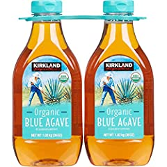 Kirkland Signature Organic blue Agave 36oz BOTTLE (pack of 2, total of 72 oz) All purpose sweetener The package dimension of the product is 5.7cmL x 20.3cmW x 22.9cmH