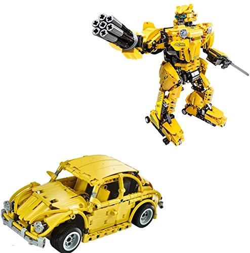 Modbrix Technik 2in1 RC Auto & Bumblebee Roboter Bausteine Käfer Autobot, 1124 Teile