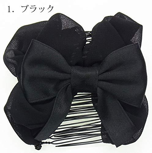 古栄(KOEIDO)『ツインコーム結びリボンMサイズ(190381)』