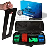 The Guitar Effect Pedal Board with Utility Bag Portable Black Guitar Pedalboard - Best for Mounting Your Pedals As You Want - Pedal Board and Pedal Case by J. Oskar music production