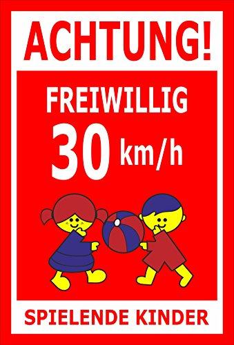 Melis Folienwerkstatt sticker schild - Willig 30 km/h - S00040-027-D