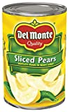 Del Monte Canned Bartlett Sliced Pears in Heavy Syrup, 15.25-Ounce