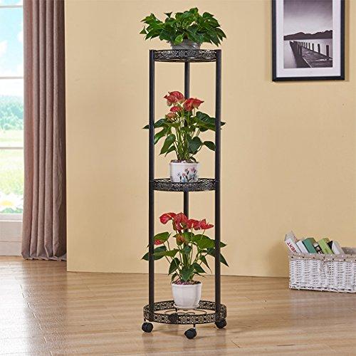 Blanc M/étal Support de Pot de Fleurs pour Plantes Int/érieur Balcon Rolanli /Étag/ère /à Fleurs