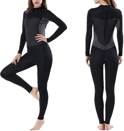 Maillot de bain une pièce à hommeches longues de sur Combinaison de surf du néoprène de la combinaison 3mm complète du wetsuit des femmes pour faire du surf, plongée en apnée, plongée à l'air Maillot de