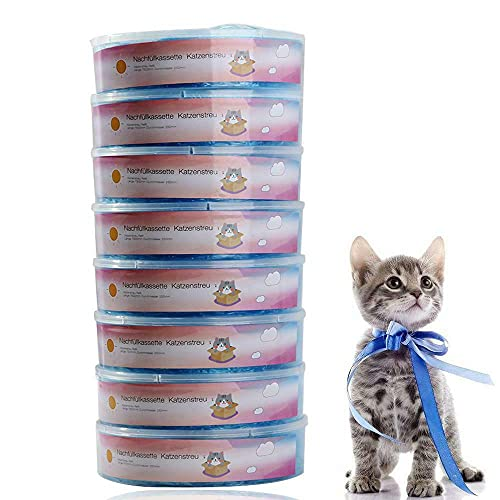 ALETO Nachfüllkassette für Litter Locker II, cat Litter Disposal System 8 Stück