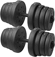 YAHEETECH 66 LB Weight Dumbbell Set Fitness Adjustable Cap Gym/Home Barbell Plates Body Workout for Women and Men Strength Training