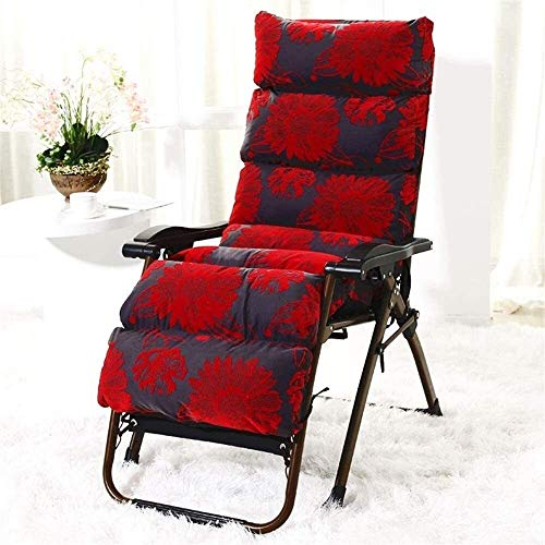 ADHW Sillón reclinable, silla de exterior, silla ajustable de aluminio reclinable, silla larga, brazo sencillo acolchado, silla larga, fundas de cojín, M