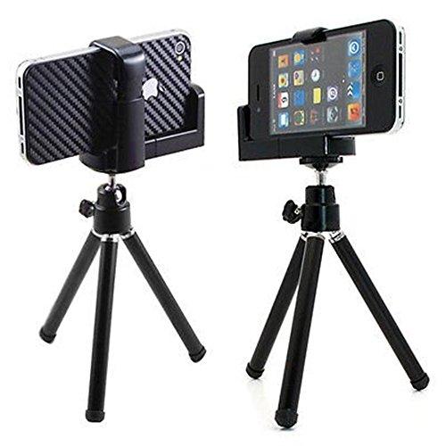 Ardisle Hot Mini trípode para móvil iPhone - Compatible con: iPhone 3 G 4 44 4S iPod Touch 4 así como cámara con montaje en trípode estándar