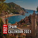 Spain Calendar 2021: 12 Month Mini Calendar from Jan 2021 to Dec 2021, Cute Gift Idea | Pictures in Every Month