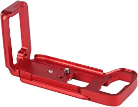 ADAI L Shape Quick Release Plate Camera Cage Accessory Bracket Aluminum Alloy for Sony A7R3/ A7M3/ A9 (Red)