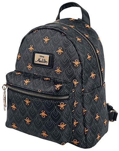 Bioworld Disney Aladdin All-Over Print Ladies Mini Backpack Rucksack 26 centimeters 20 Schwarz (Black)