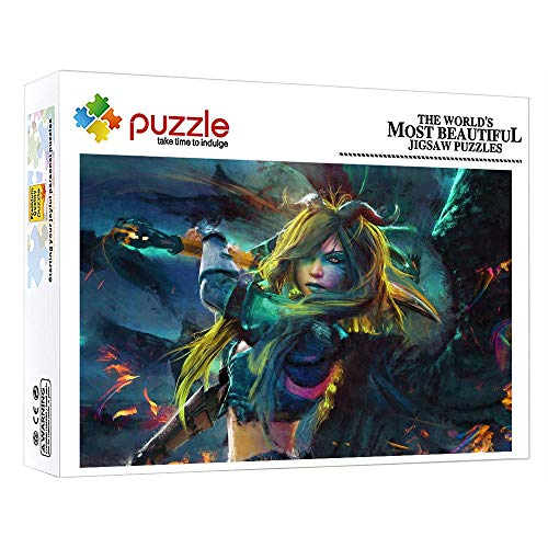 FFGHH Puzzles Puzzles 1000 Piezas Puzzle 1000 Piezas Arte Puzzle De Madera Chica Joven Adultos Amigo Niños 75Cm X 50Cm