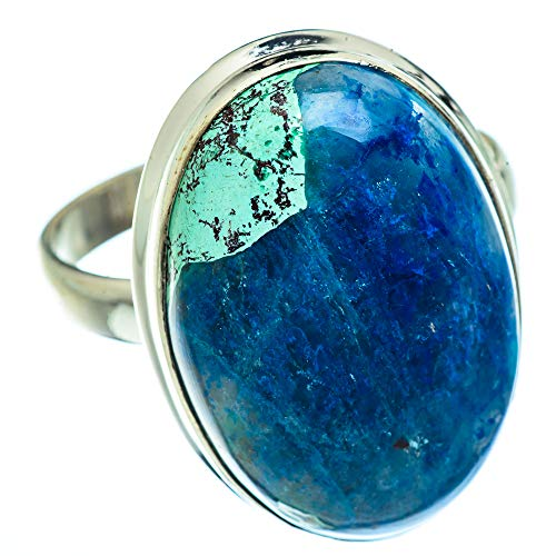 Ana Silver Co Large Chrysocolla In Quartz Ring Size Z (925 Sterling Silver)
