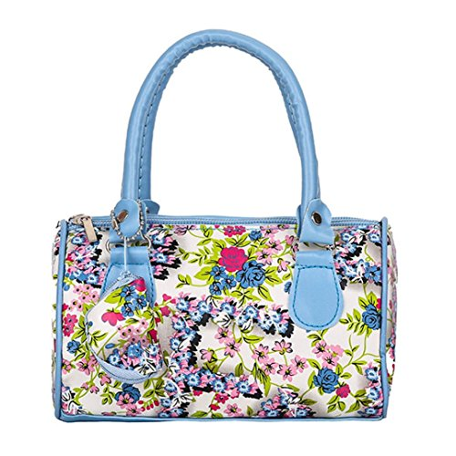 Beikoard Borsa a Tracolla Tote Ladies Handbag Ricamata a Spalla da Donna (Blu)