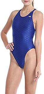 Yingfa 水着 レディース 競泳 フィットネス水着 女性用 大人 女の子 人気おしゃれ 水着ビキニ (ブルー, M)
