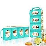 PANGOOD Refrigerator Organizer Bins 2-Pack Beverage Holder for Fridge, Freezer | Soda Can Organizer for Refrigerator Shelf, Beer Can Holder, Fridge Storage Sliding Rack, Drink Can Dispensers (Green)