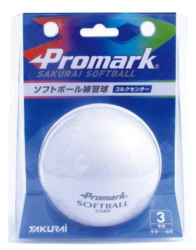 サクライ貿易(SAKURAI) Promark(プロマーク) 野球 ソフトボール 練習球 ボール 3号球 SB-803N