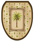Toilet Tattoos TT-1020-O Bahamas Breeze Decorative Applique for Toilet Lid, Elongated