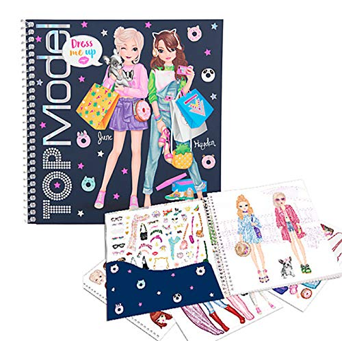 Depesche 10452 Sticker Book TopModel Dress Me Up, Multicoloured