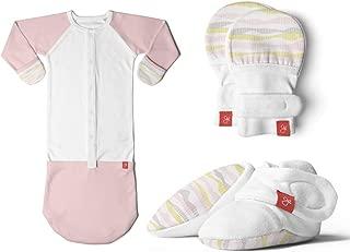 Newborn Baby Mittens, Booties & Sleep Sack Pajamas Bundle, Organic, Soft & Adjustable