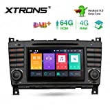 XTRONS 7' Android Octa Core 4GB RAM 64GB ROM Autoradio mit Touchscreen Android 9.0 DVD Player Autostereo unterstützt 3G 4G Bluetooth DAB OBD2 TPMS FÜR Mercedes-Benz
