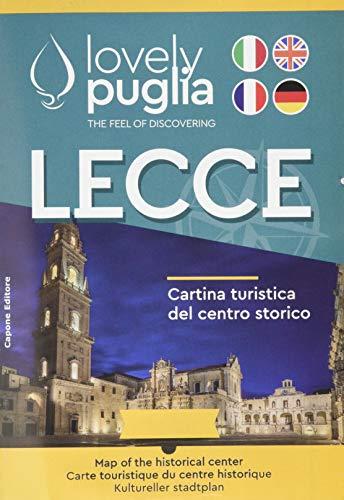 Lecce. Cartina turistica del centro storico. Lovely Puglia. The Feel of discovering