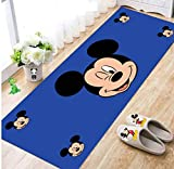 Cartoon Anime Mickey Mouse Donald Duck Crystal Fleece Non-Slip Household Tide Brand Carpet Rectangular Strip Bay Window Balcony Bedroom Bedside 60 * 180cm