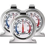 Termómetro de Esfera Grande de Horno Termómetro de Serie Classic Ahumador de Parrilla de Horno de Acero Inoxidable Termómetro de Monitoreo para Hornear de Cocina (3)