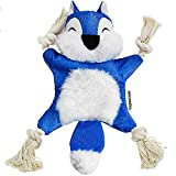 LEGEND SANDY Crinkle Dog Toy No Stuffing, Blue Squirrel Dog Toys Puppy Chew Toys, Update Version Squeaky Toys for Dogs, Knotted Rope Dog Toy Durable Interactive Dog Toys for Small Dog Toys