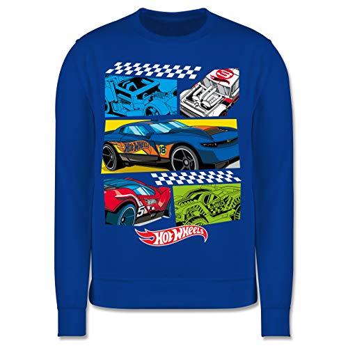 Shirtracer Hot Wheels Mädchen - Comic Rennautos - 128 (7/8 Jahre) - Royalblau - Fun - JH030K - Kinder Pullover