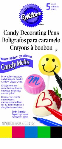 Wilton 609-130 Candy Melt Writing Pen, Primary Color